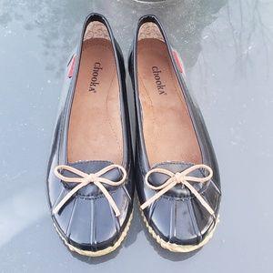 Chooka Womens Waterproof Ballerina Flats Sz 9
